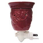 Burgundy Ceramic Plug In Wax Melter