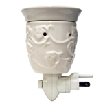 White Ceramic Plug In Wax Melter